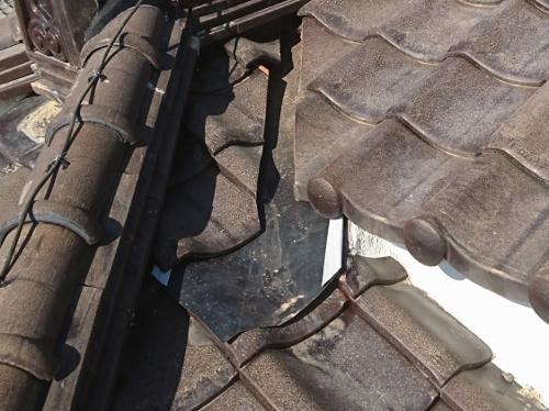 雨漏り修理谷ステンレス板