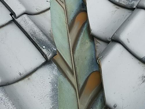 谷銅板の劣化