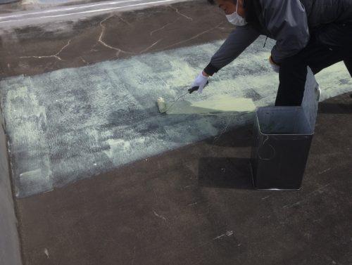 防水工事プライマー塗布