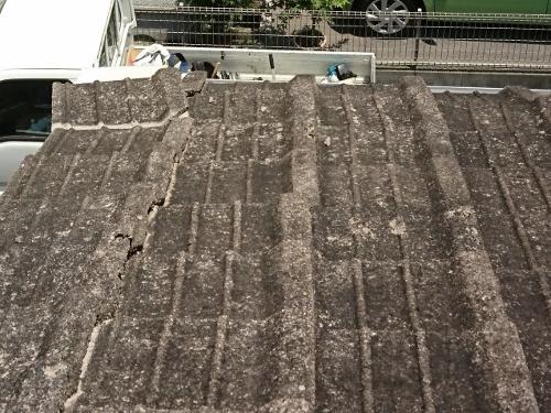 落下しそうな瓦の屋根補修