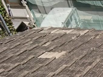 落下しそうな瓦屋根補修後