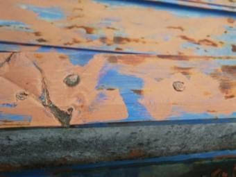 雨漏り調査笠木の折れ目