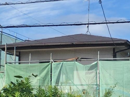 福山市緑陽町で行っていたスーパーガルテクトのカバー工事がおわりました
