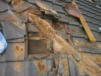 雨漏り部の解体