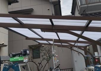 車庫の屋根材改修後