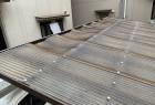 交換前の車庫の屋根