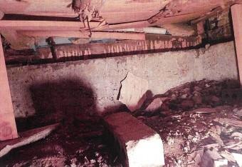 雨漏り箇所ダメージ床下