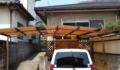 カーポート屋根の補修
