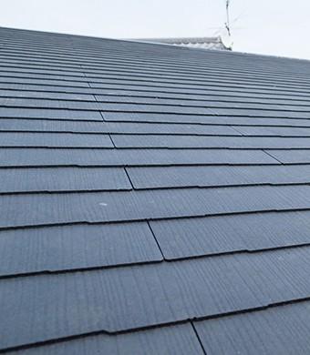 ダイヤスーパーセランマイルドIRが塗られた屋根
